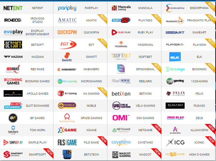 1xBet Casino Software providers, Gaming Companies
