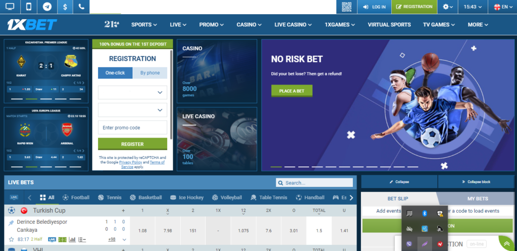 1xBet Casino-front page