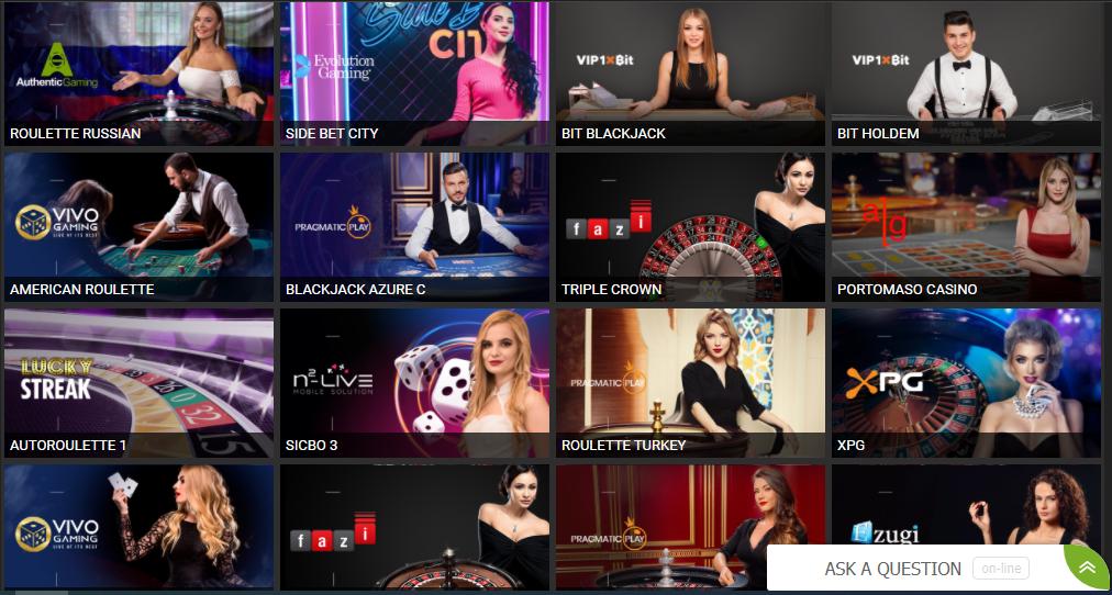 1xBit Live casino