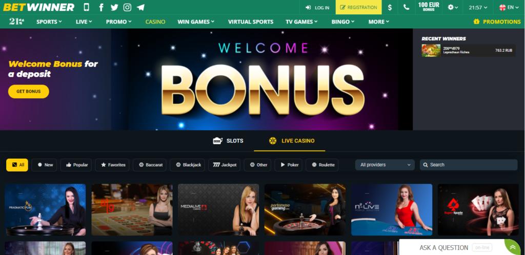 Betwinner Nigeria website