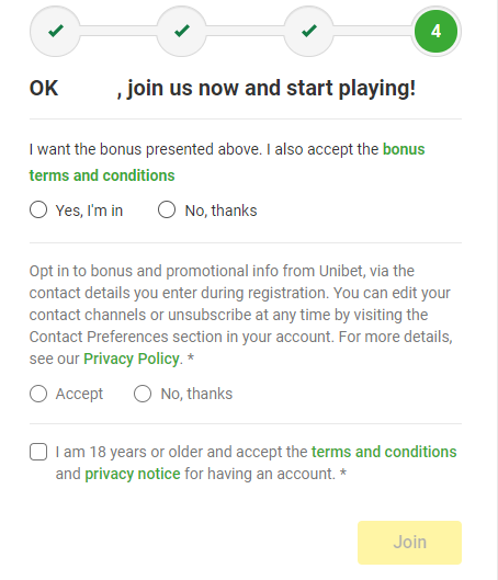 Registration Form - Confirmation