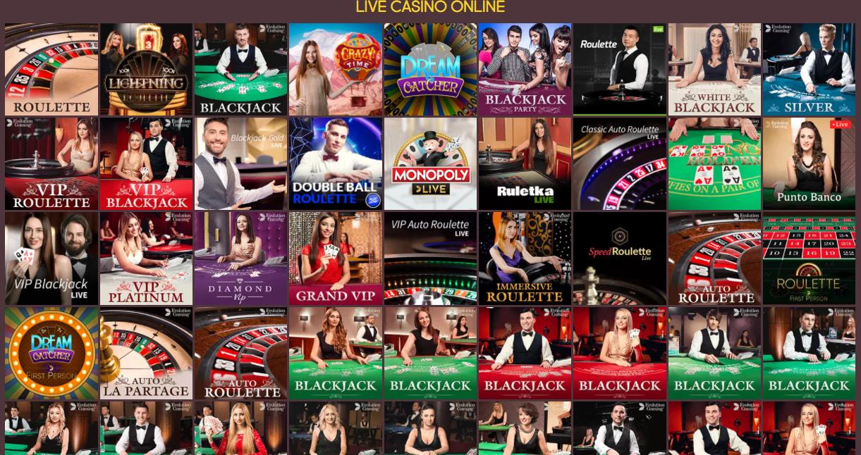 Live Casino games at Gunsbet
