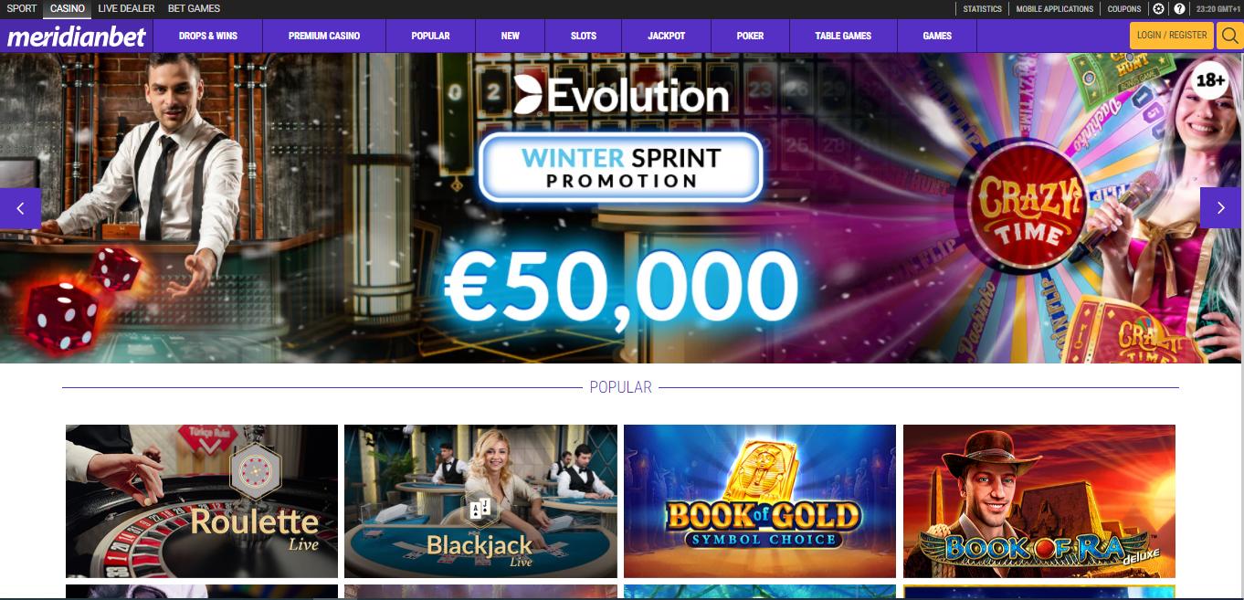 Meridianbet casino review