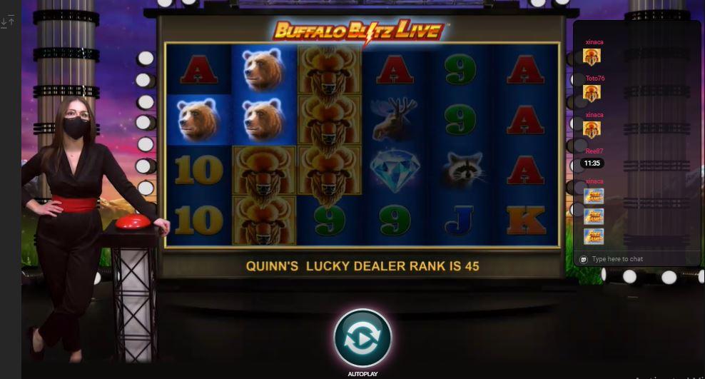 Live casino -slots