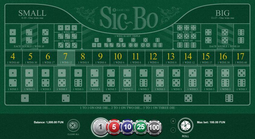 Sic-Bo Table