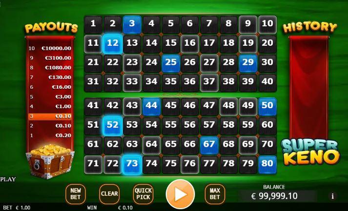 Super Keno Casino Game
