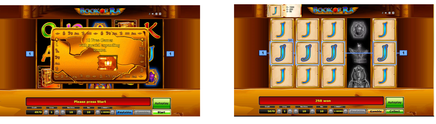 Book of Ra Slot Game-free spins