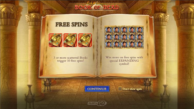 book of dead slot game - free spins bonus feature