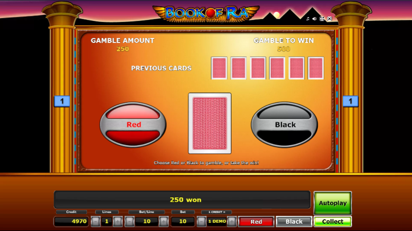 Book of Ra Gamble Feature