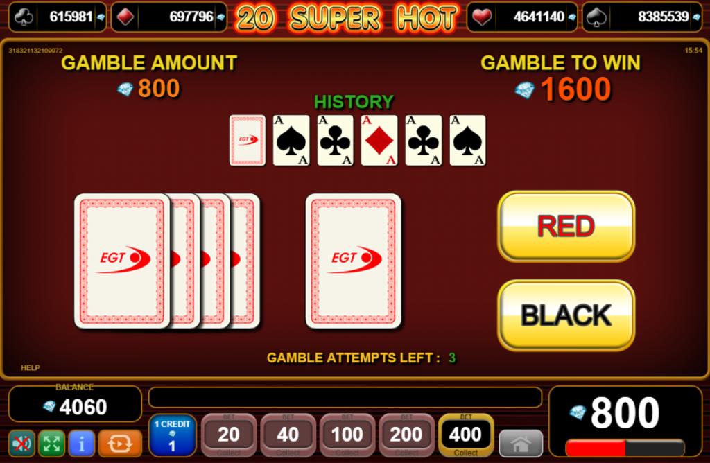 20 super hot slot - gamble feature