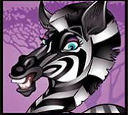 Mega Moolah zebra symbol
