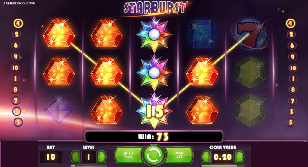 Starburst slot game - wild symbol