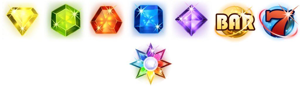Starburst slot game symbols