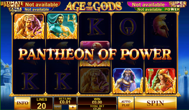 Pantheon of Power bonus feature