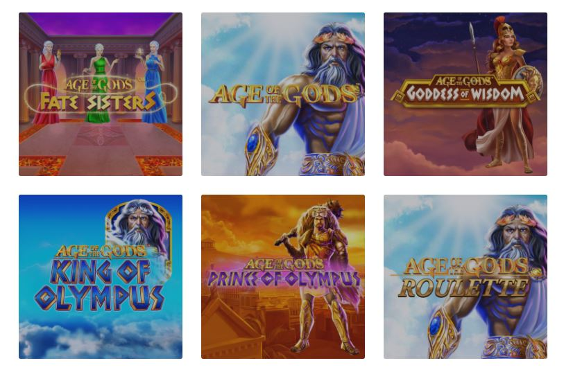 Age of the gods slot games