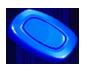 Blue Oval Candy Symbol