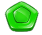 Green Diamond Candy Symbol