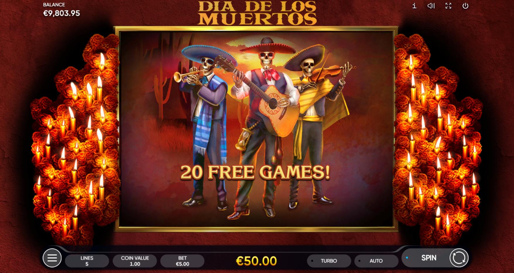 Dia de Los Muertos Free Spins