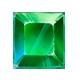 Green gemstone symbol