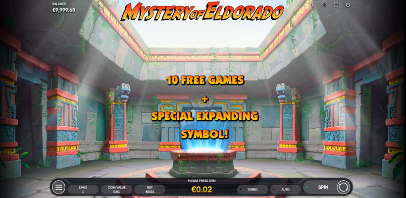 Mystery of Eldorado Free Spins feature