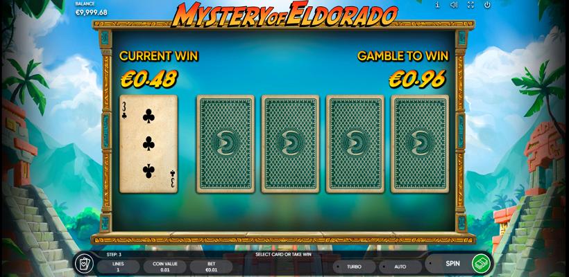 Mystery of Eldorado Gamble feature