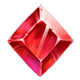 Red gemstone symbol