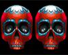 Red skull symbol