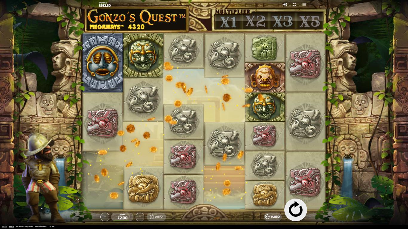 tumbling reels slot games - Gonzo's Quest Megaways