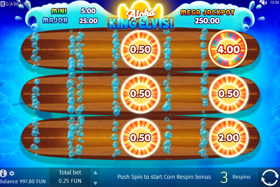 Aloha King Elvis respins feature